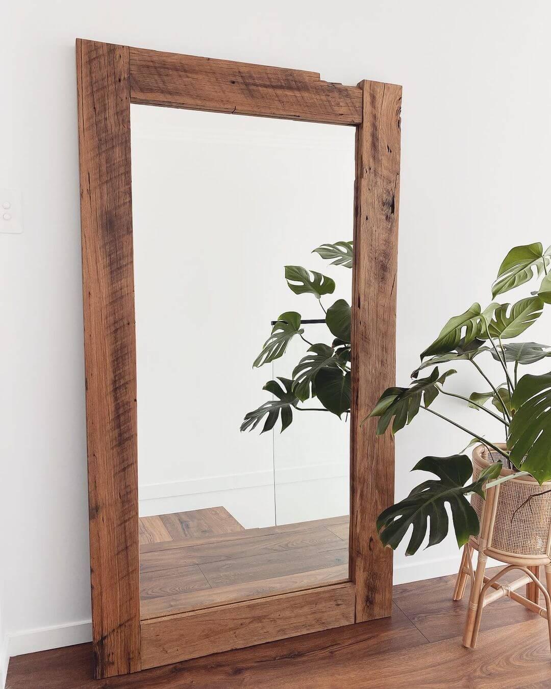 DIY Wooden Mirror Frame